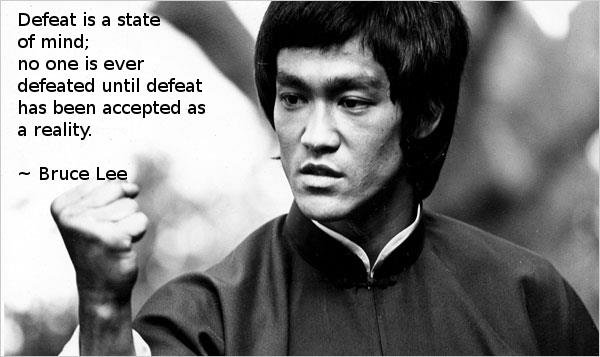 Bruce Lee wisdom pose