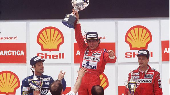 Senna win Brazil Sao Paulo 1991