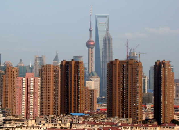 Shanghai real normal skyline