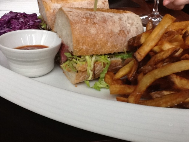 The best steak sandwich in Asia, the chips of dreams, the pleasure, the pleasure